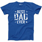 Best Dad Ever T Shirt Funny Fathers Day Gift Tee Daddy Papa New Black T S A17