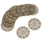 50PCS Bronze Filigree Flower Connectors Crafts DIY Jewelry Making Accessories Ep