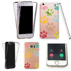 Silicone 360° Full Protection Cover Case For Most Mobiles coloured paw scribble