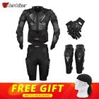 Moto Racing Motorcycle Body Armor Protective Gear Jacket+Pants+Knee Pads+Gloves.
