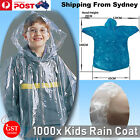 1000x Disposable Emergency Poncho Rain Coat Kids Raincoat Ponchos Wholesale Gift
