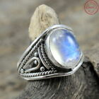 CUT SOLID 925 STERLING SILVER NATURAL MOONSTONE RING JEWELLERY VARIATION SIZES