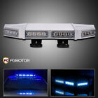 "56 LED 18""Inch Professional Low Profile LED Emergency Roof Top Strobe Light Blue"