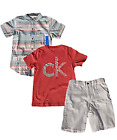 Calvin Klien Jeans 3 Piece Set Boys / 4T / Stripe Woven