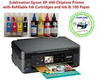Sublimation Epson XP-446 ChipLess Mianboard Built-on Tank with Ink & 10 Paper