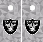 Oakland Raiders Cornhole Skin Wrap NFL Football Team Colors Art Decor Vinyl DR64 $39.99 USD on eBay
