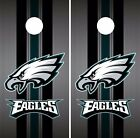 Philadelphia Eagles Cornhole Skin Wrap NFL Football Luxury Colors Vinyl DR68 $59.99 USD on eBay
