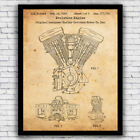 Harley Davidson Evo Motorcycle Engine Patent - Wall Art Print w/ Optional Frame $23.66 USD on eBay