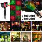12Pattern Christmas Projector Light Moving Laser LED Indoor Outdoor Garden Lamp