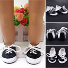 """Fashion Cute Black & White Saddle Shoes made Fit For 18"""" Baby Doll Toy Clothes B"""