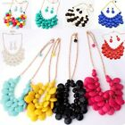 393C Women's Candy Color Water Drop Jewelry Set Charm Necklace Earring Access