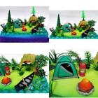 Nature Scene Camping 20 Piece Birthday Cake Topper Set, Featuring Camping Items