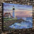 204478 Maines lighthouse Paintings Decor FRAMED CANVAS PRINT