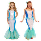 Kids LITTLE MERMAID COSTUME Fancy Dress Child Girls Book Week Birthday Outfit UK