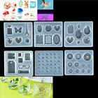Necklace pendent Silicone Mould DIY Resin Decor Craft Jewelry Making Mold dc