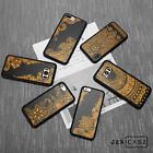 Unique Spray Paint Wood Mandala Phone Case Cover For iPhone X 6/7/8+ &Samsung S8