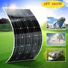 160W Monocrystalline Flexible Solar Panel Solar Power For Off Grid RV Boat US-DU