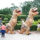 Inflatable Child Dinosaur T-REX Costume Jurassic World Blowup Cosplay Adult Suit