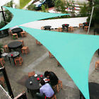Custom Turquoise Triangle 5-24FT Sun Shade Sail Patio Yard Pool Pergola Canopy