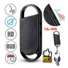 Keychain Digital Audio Recorder Voice Activated Listening Dictaphone MP3 Player