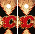 Calgary Flames Cornhole Skin Wrap NHL Hockey Wood Design Vinyl Decal DR95 $39.99 USD on eBay