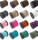 5m X 3mm Korea Faux Suede Cord Thread String Enviro Leather Jewellery Beading