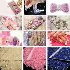 UK_ 1000Pcs 4mm Flatback Crystal AB 14 Facets Resin Round Rhinestone Beads Hot