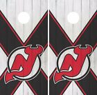 New Jersey Devils Cornhole Skin Wrap NHL Hockey Vintage Art Decor Vinyl DR133 $39.99 USD on eBay
