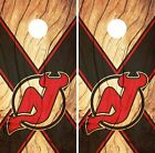 New Jersey Devils Cornhole Skin Wrap NHL Hockey Custom Wood Decor Vinyl DR135 $39.99 USD on eBay