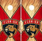 Florida Panthers Cornhole Skin Wrap NHL Hockey Custom Wood Design Vinyl DR175 $39.99 USD on eBay