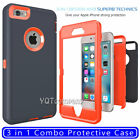 For iPhone 6 Plus & iPhone 6S Plus Phone SE Case Cover w/(2 Pack Tempered Glass)