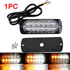36W 12 LED Light Bar Flash Emergency Car Vehicle Warning Strobe Flashing Yellow