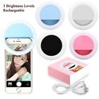Rechargeable USB Charge Selfie Portable LED Ring Fill Light Camera for iPhone