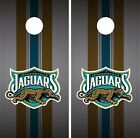 Jacksonville Jaguars Cornhole Skin Wrap NFL Football Flag Luxury Vinyl DR37 $39.99 USD on eBay