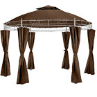Luxury gazebo garden round Ø 350cm party tent with side curtains outdoor