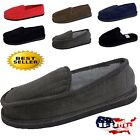 MENS SLIPPERS HOUSE SHOES MOCCASIN CORDUROY SLIP ON  OPEN BACK SIZE 4 13