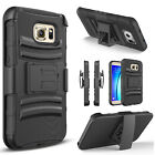 For Samsung Galaxy S7/S7 Active/S7 Edge/ Case, Heavy Duty Belt Clip Cover+Stylus