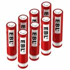 Lot of EBL 18650 16340 14500 10440 Rechargeable Batteries & Box  For Flashlight