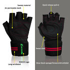 Gym Half Gloves Wrist Wrap Weight Lifting Exercise Training Fitness Workout Men