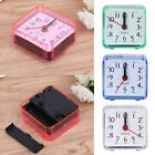 Square Small Cute Bed Compact Travel Quartz Desk Alarm Clock Electronic Clock