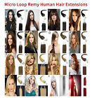 14''-26'' Micro Easy Loop Ring Beads Straight 100% Remy Human Hair Extensions US