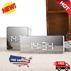 Alarm Clock LED Mirror Digital Display Time Night Table Desktop Despertador