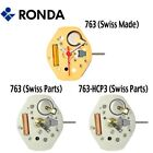 Harley Ronda 763 Quartz Watch Movement, 3 Hands (Swiss Parts & Swiss Made) - NEW image