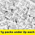 Silica Gel Desiccant 1g sachets packs choose 50 - 1000 UK supplier Factory fresh