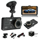 1080P 4  Dual Lens HD Car DVR Rearview Video Dash Cam Recorder Camera G-sensor