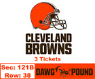 3 Cleveland Browns vs Eagles Tickets 8/23 * Lower Dawg Pound * on eBay