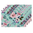 Cloth Placemats Floral Flower Roses Watercolor Baby Girl Fashion Set of 4