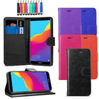 "Leather Flip Wallet Case Magnetic Cover For Huawei Honor 7A 5.7"" + LCD + Stylus"