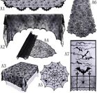 Props Black For Halloween Lace Spiderweb Fireplace Mantle Scarf Cover Tablecloth