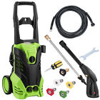 3000 PSI 1.8 GPM Power Water Electric Pressure Washer Kit w  Hose Detergent Tank